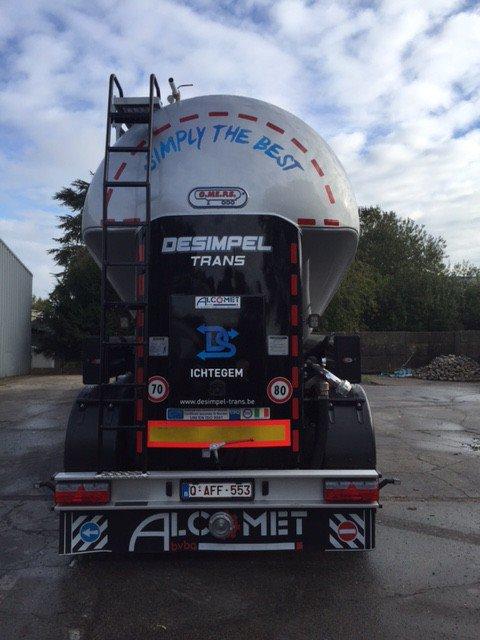 Transportbedrijf Desimpel kipper vervoer België en Nederland