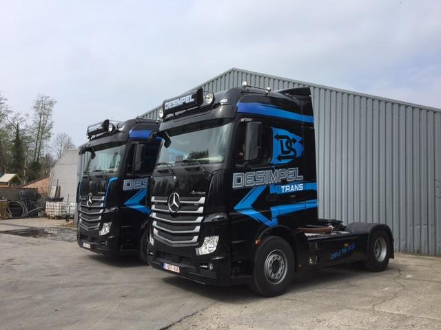 Transportbedrijf Desimpel tractie vervoer België en Nederland