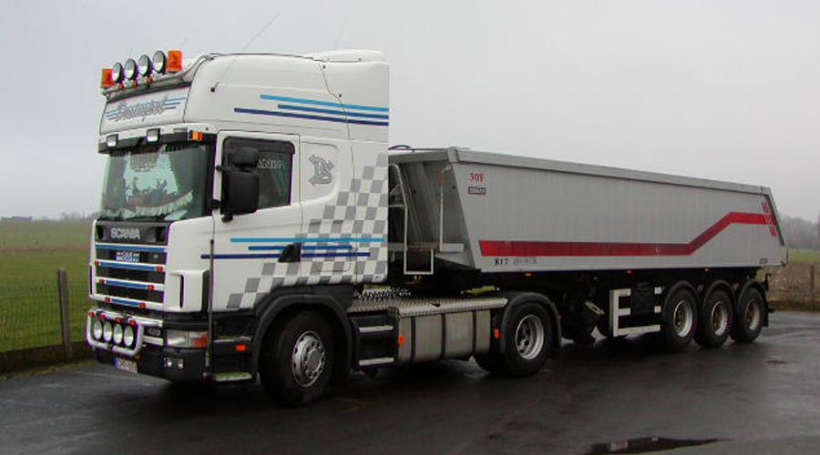 Transportbedrijf Desimpel Kipper transport België en Nederland