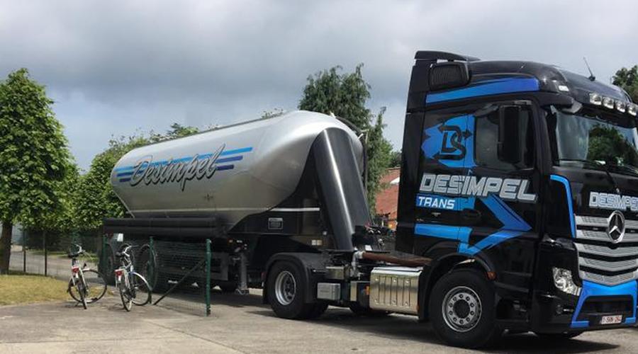 Transportbedrijf Desimpel Trans bulktransport in België en Nederland